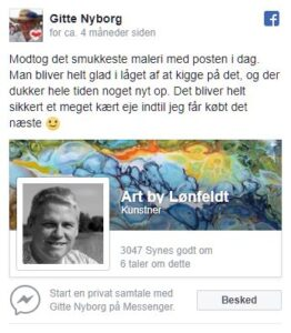 Facebook review Gitte Nyborg