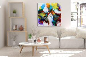 Store malerier i smukke farver - Brilliance I