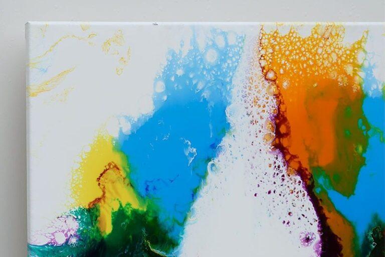 Store malerier i stærke farver - Brilliance I