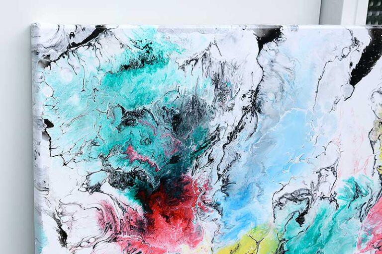 Stort maleri med stærke farver - Altitude I