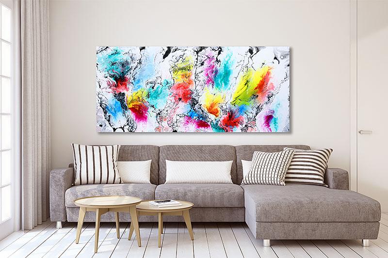 Stort maleri til stuen - Altitude I