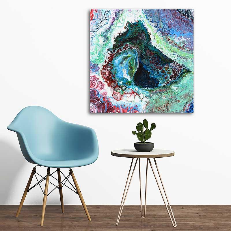 Moderne malerier til stuen - Ascent I