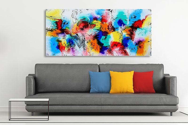 Store malerier til stuen og hjemmet - Elevation III