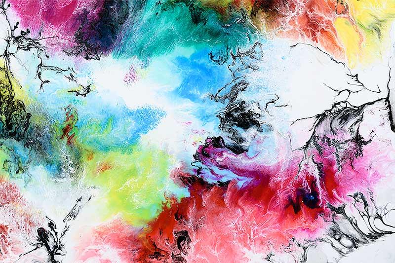 Abstrakte malerier i flotte farver - Altitude IV