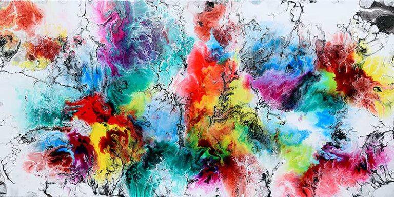 Abstrakt kunst til væggen - Altitude IV