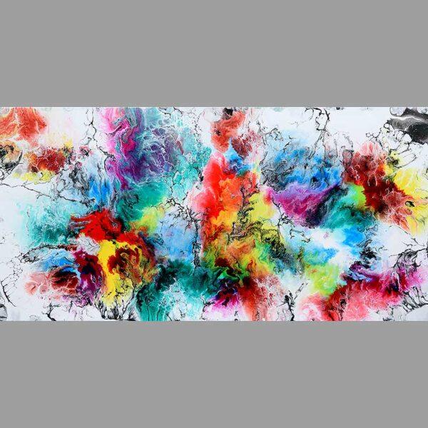 Smukt farvestrålende maleri - Altitude IV