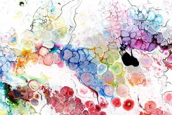 Kunst til væggen smukke farver - Alleviate I
