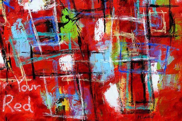 Maleri i røde farver - Abstract Colors VI