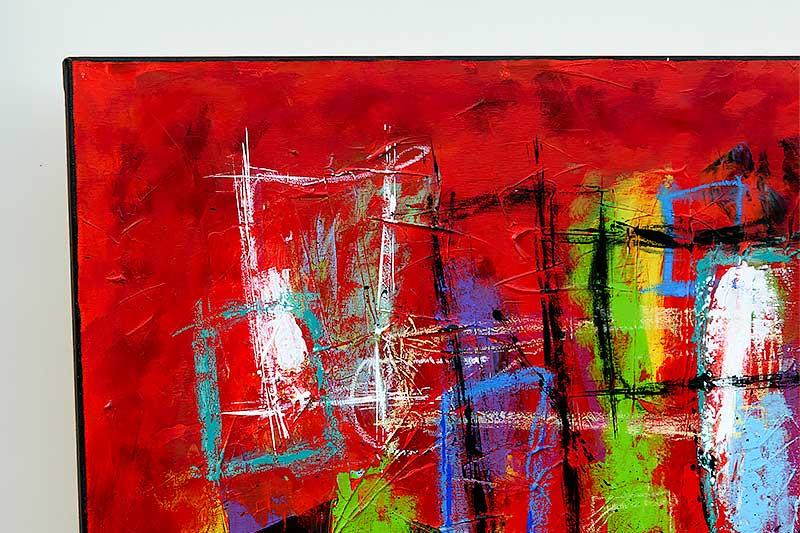 Moderne malerier i røde farver - Abstract Colors VI