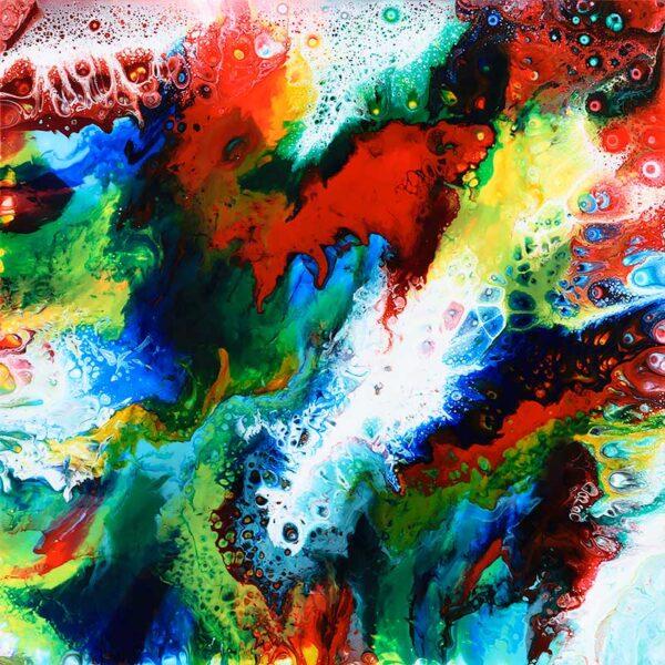 Farverigt maleri til stuen - Brilliance III maleri