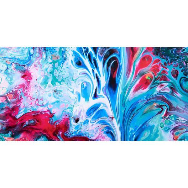Farverige lærredstryk moderne kunst - Essentials III