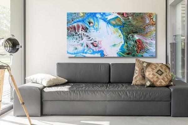 Lærredstryk til væggen over sofaen - Essentials I