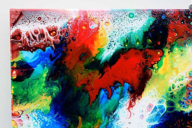 Maleri til stuen flotte farver - Brilliance III