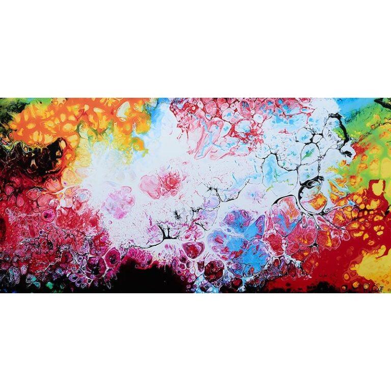 Kunsttryk i dejlige kraftige farver - Fragments III
