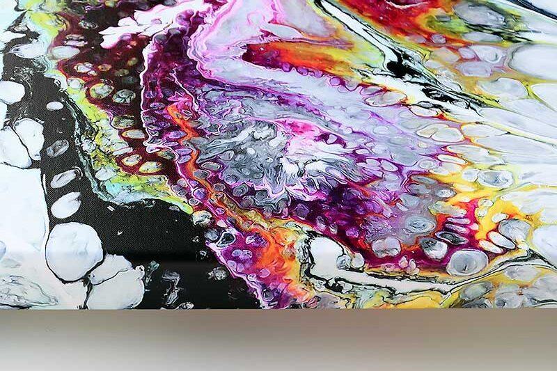 Lærredstryk til stuen flotte farver - Fragments I