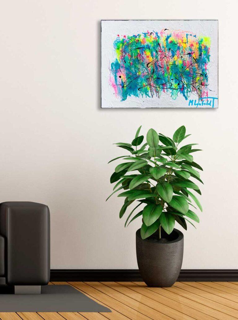 Detaljeret maleri med flotte farver - Waterways I