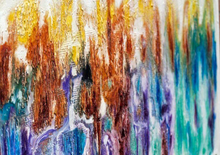 Stort maleri i flotte farver - Nature Colors I