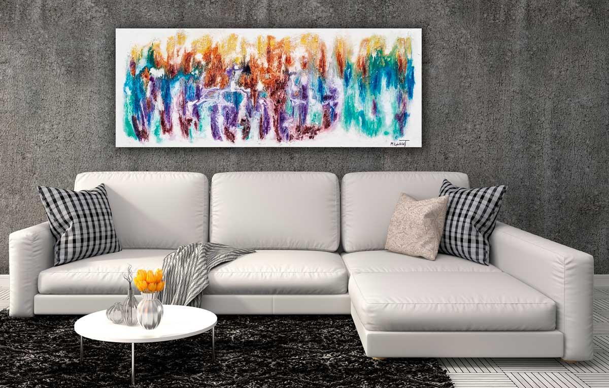 Stort maleri til stuen - Nature Colors I