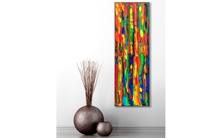 Farverigt maleri til stuen - Tribal Colors III