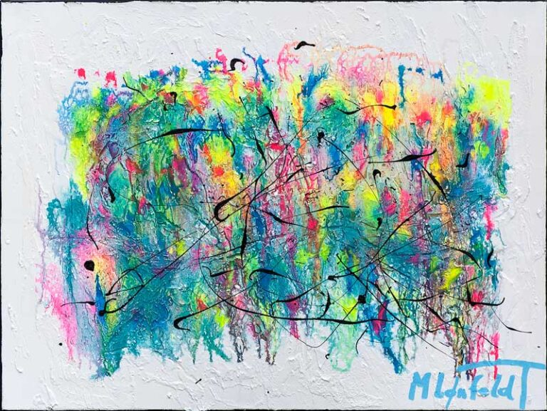 Smukt maleri i pastel farver - Waterways I
