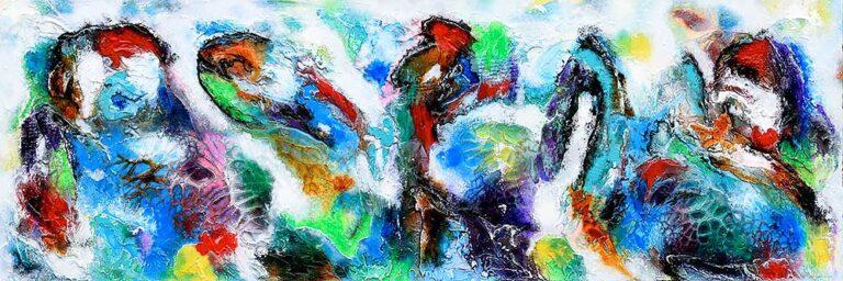 Moderne abstrakt maleri - Diversity V