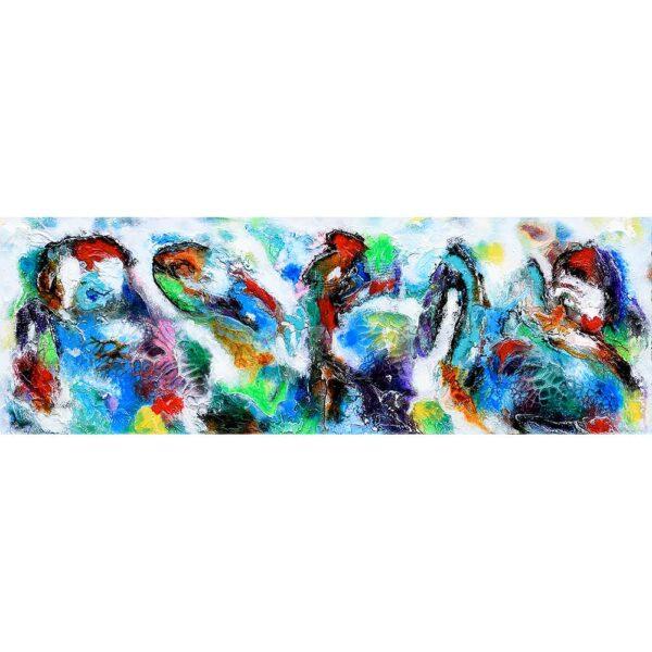 Moderne abstrakt maleri i stærke farver - Diversity V
