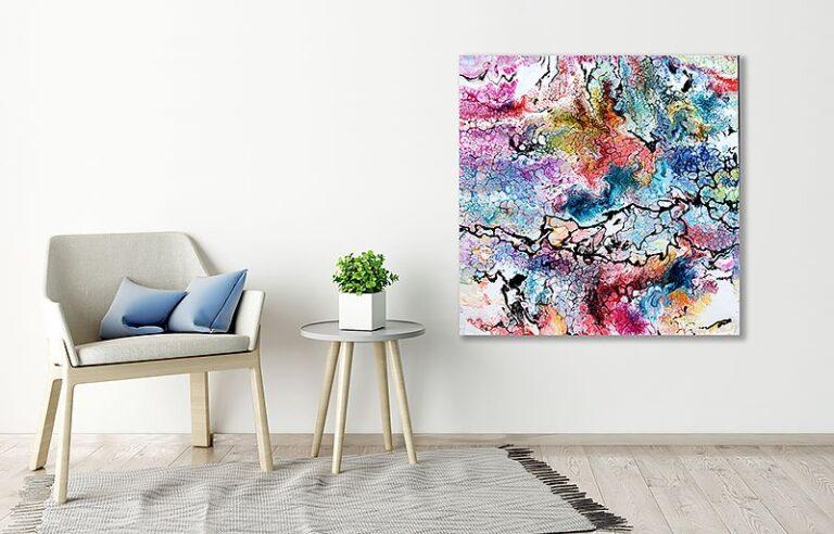Farverige malerier til stuen - Unity II