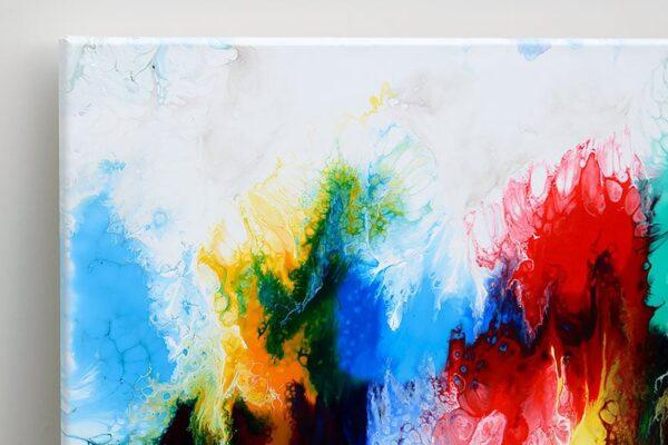 Malerier i smukke farver til stuen - Elevation IV