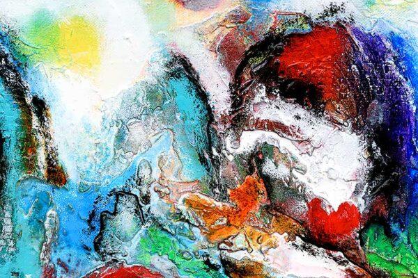 Moderne abstrakte malerier i flotte farver - Diversity V