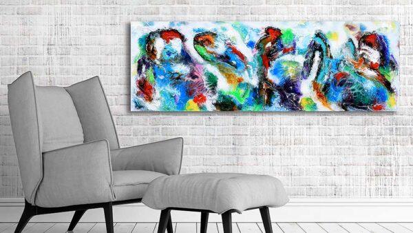 Moderne abstrakte malerier til stuen - Diversity V