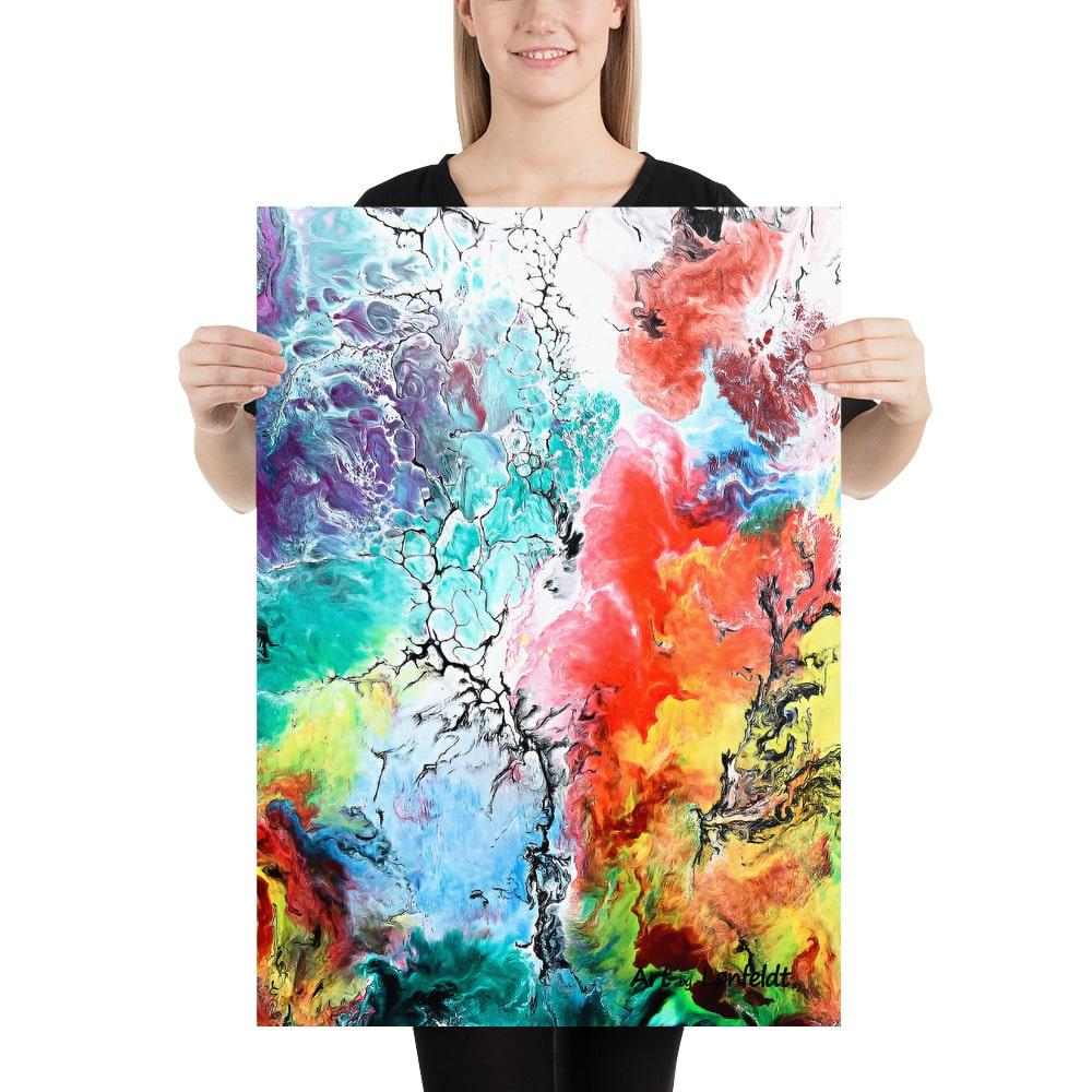 Plakater i smukke kunstnerdesigns i en farvesymfoni - Altitude III