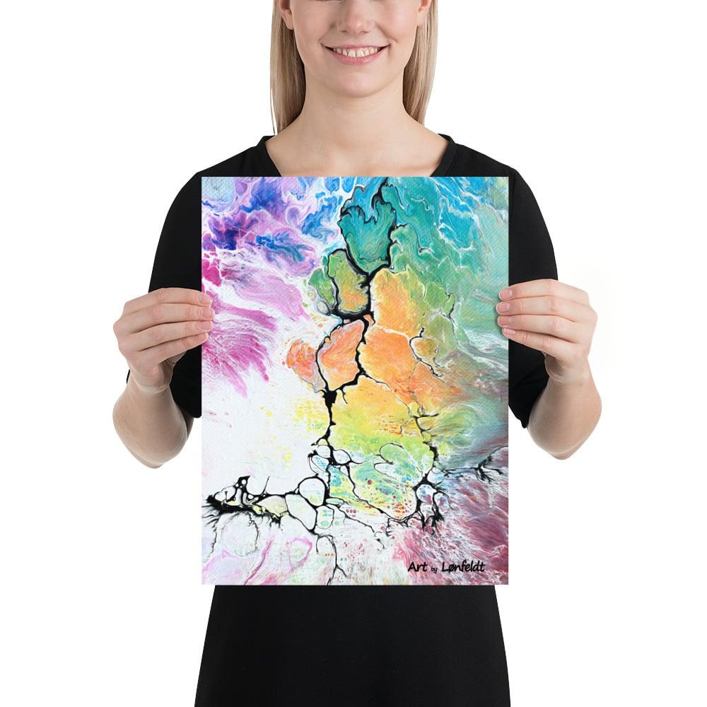 Køb farverige abstrakte plakater online hos Art by Lønfeldt - Altitude IV 30x40 cm