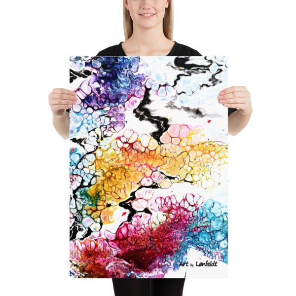 Plakat med skønne farver du kan bruge til at sætte dit eget unikke præg på din indretning