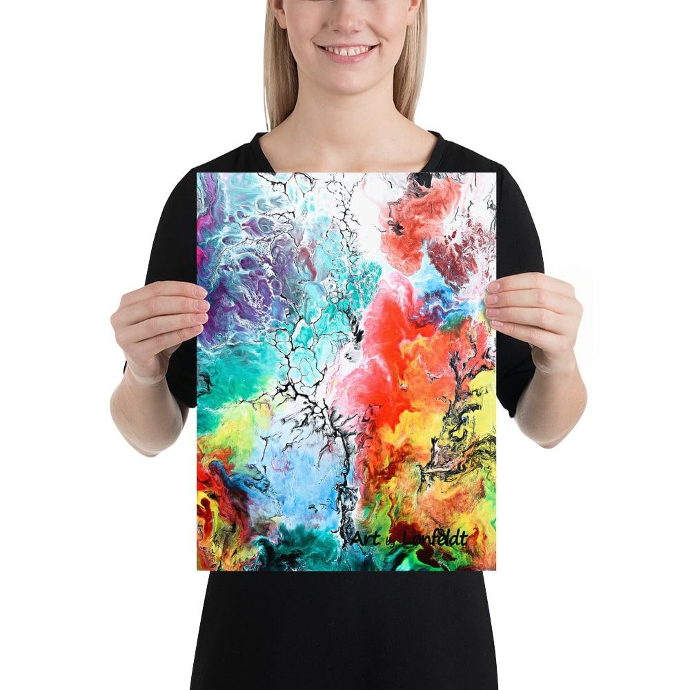 Plakatkunst der pynter på væggene i hjemmet - Altitude III 30x40 cm