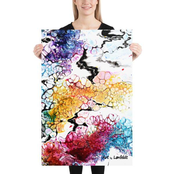 Kunstplakat i en høj trykkvalitet printet på et tykt mat papir