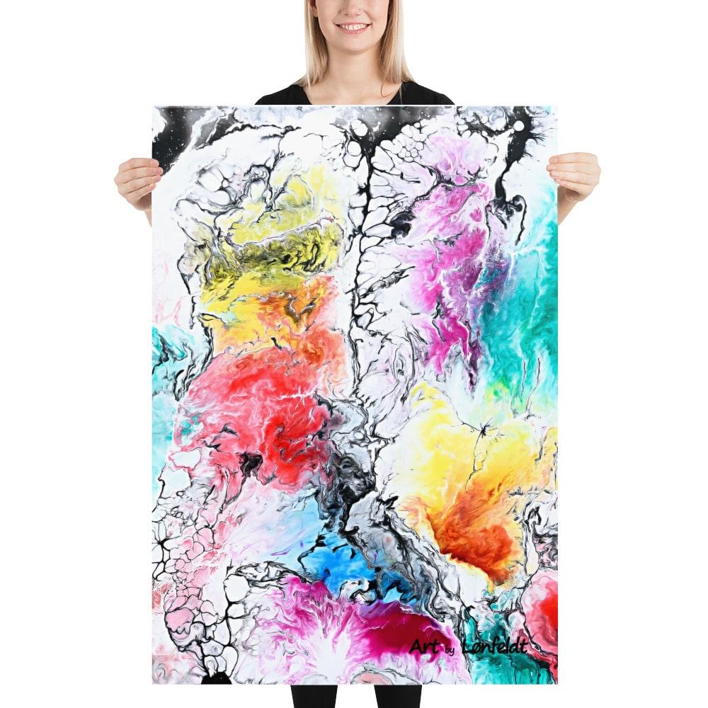 Poster plakat kunsttryk Altitude II - populær kunstplakat i moderne design og farver
