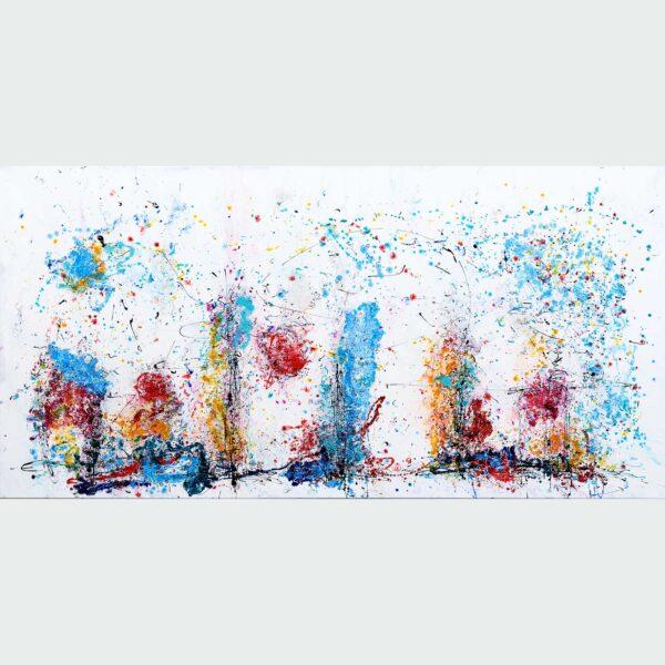 Store billeder abstrakt kunst - Eruption I