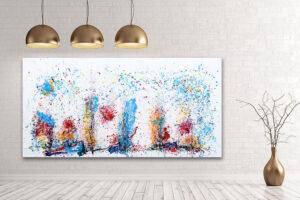Store billeder i abstrakte farver - Eruption I
