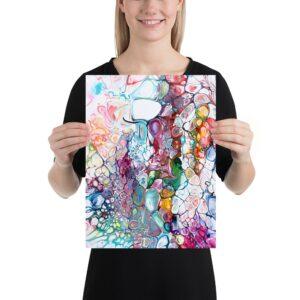 Lille kunstplakat der er en god til små vægge og billedvægge i hjemmet - Prime IV 30x40 cm