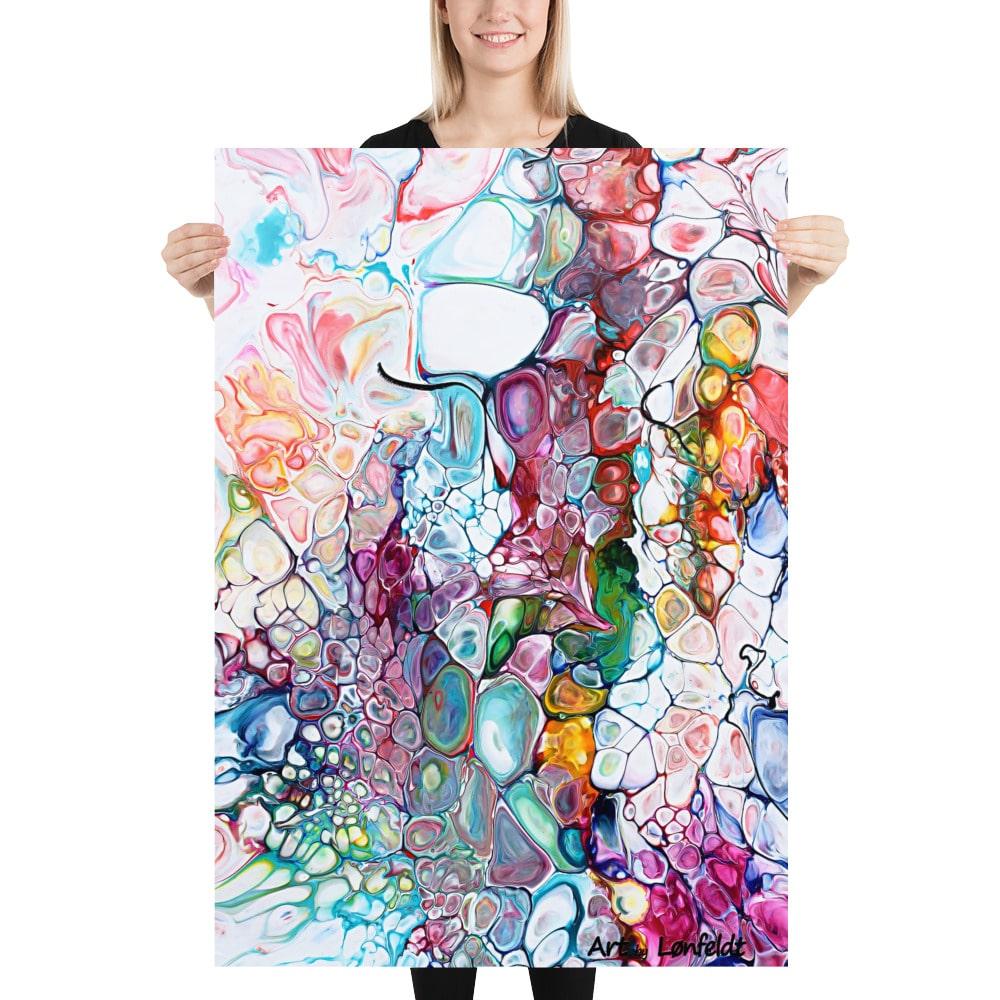 Poster plakat kunstplakat Prime IV farverig kunstplakat med smukke farver