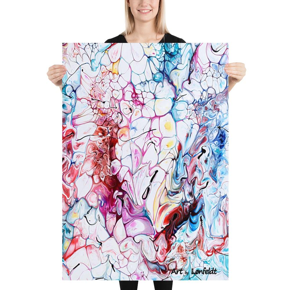 Poster plakat kunsttryk Prime I i et moderne og farverigt design