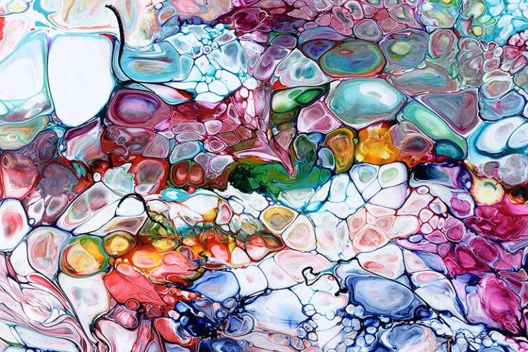 Malerier abstrakt motiv i dejlige farver - Prime V