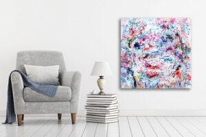 Malerier med abstrakt motiv til stuen - Prime V