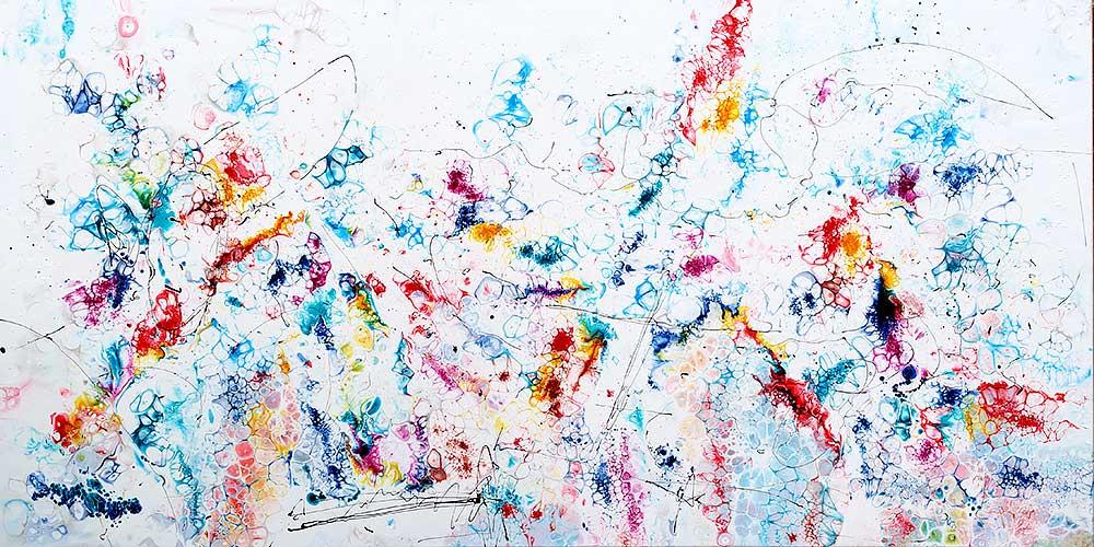 Store malerier i flotte farver til væggen - Prime VII
