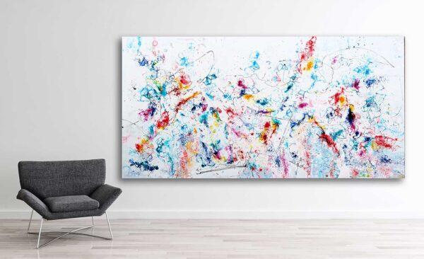 Store malerier med abstrakt motiv til salg online - Prime VII