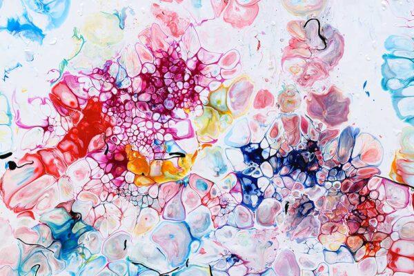 Smukke farver i abstrakt kunst - Prime VI