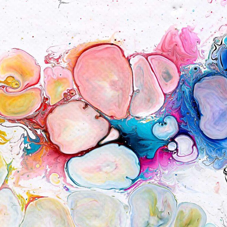 Lærredsprint i dejlige farver - Moments I