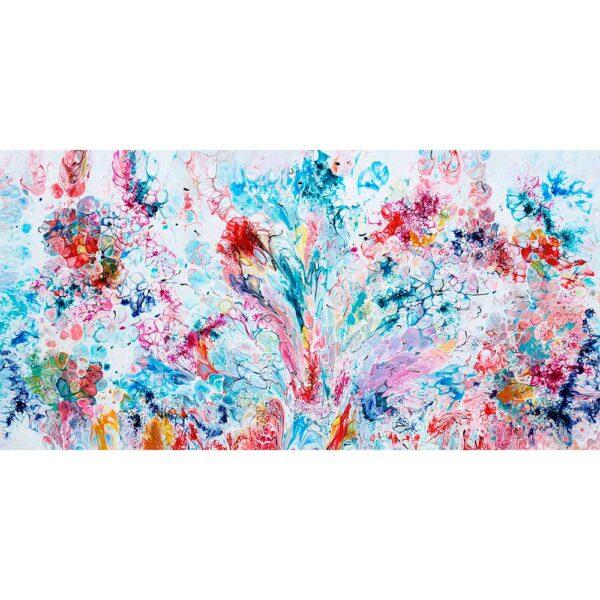 Vægkunst i abstrakt design med skønne farver - Prime VI