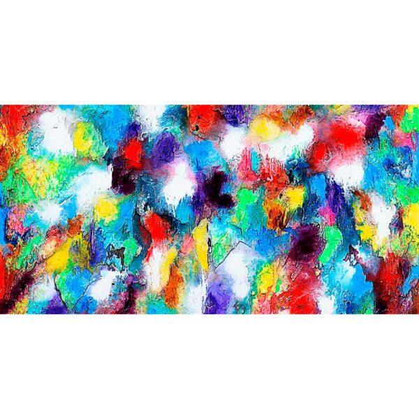 Stort canvasprint i flotte farver - Alteration I