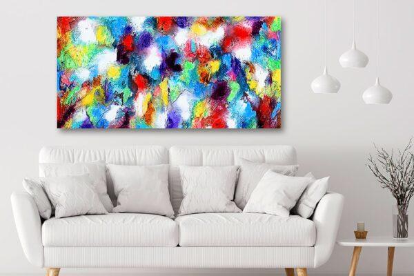 Canvasprint til væggen over sofaen - Alteration I